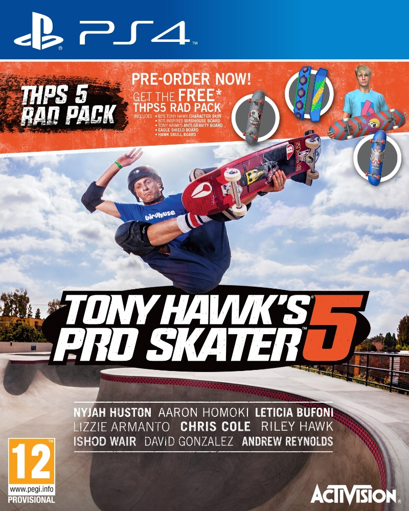 Tony Hawks Pro Skater 5 80s Pre Order Dlc And Behind The Scenes Vid Birdhouse Hawk Model Revealed Playstation 4 3 News At
