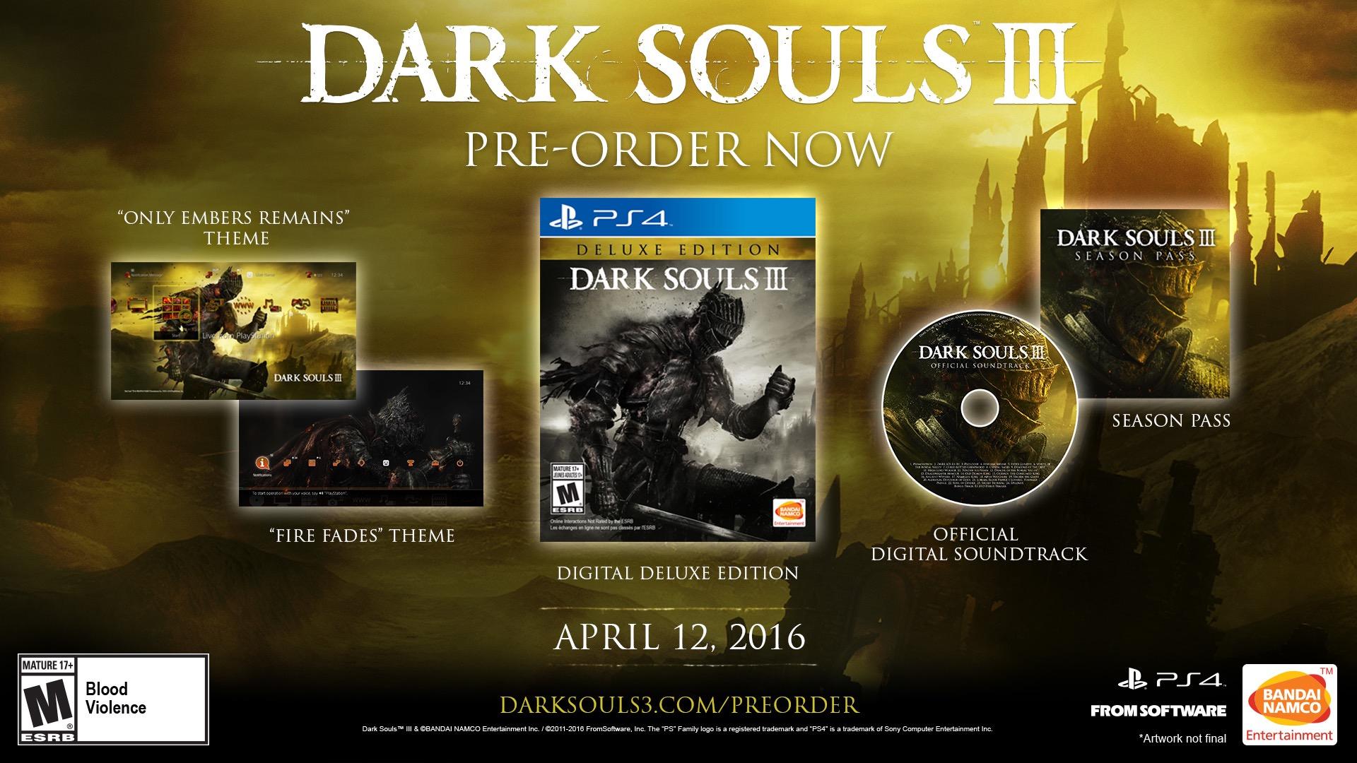 dark souls 3 is now available for digital pre order on ps4. Black Bedroom Furniture Sets. Home Design Ideas