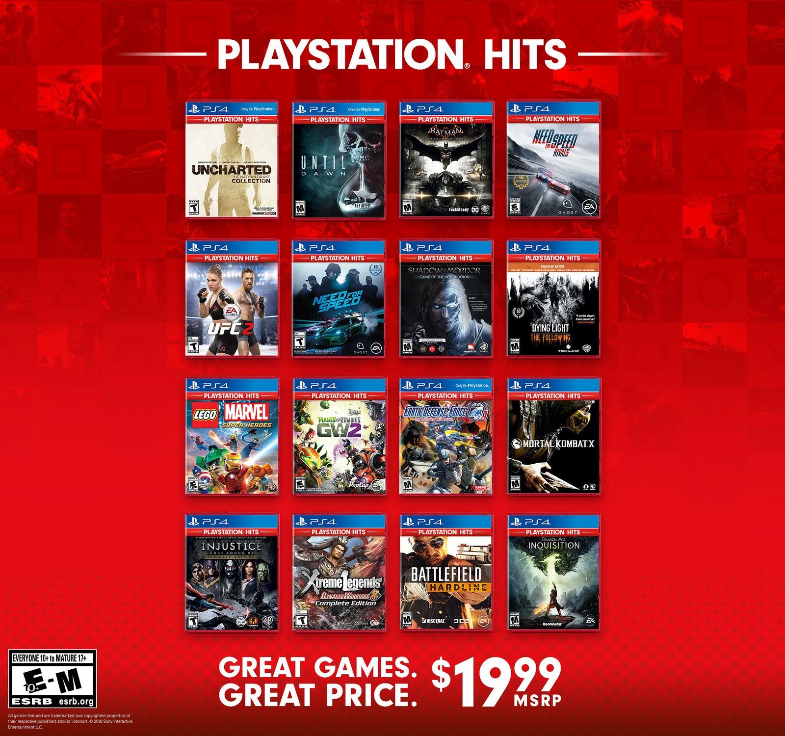 More PS4 Titles Coming to the PlayStation Hits Range in
