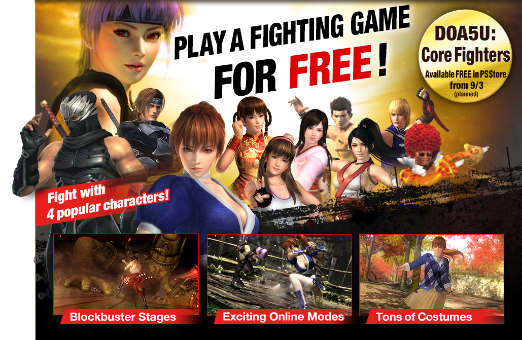 dead or alive 5 ultimate core fighters ps3