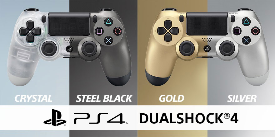 Steel Black and Crystal PS4 Controllers Coming in Summer
